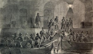 General Anderson setting up command at Fort Sumter on the night of Christmas 1860