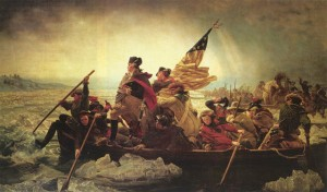 "Emanuel Letuze's painting, ""Washington Crossing the Delaware"""